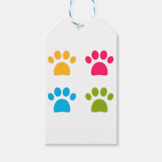 Wonderful dogs paws colored edition gift tags