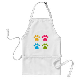 Wonderful dogs paws colored edition standard apron