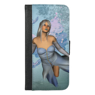 Wonderful fairy with fantasy birds iPhone 6/6s plus wallet case