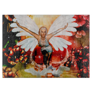 Wonderful fairy with swan boards