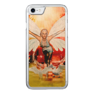 Wonderful fairy with swan carved iPhone 7 case