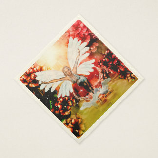 Wonderful fairy with swan disposable napkins