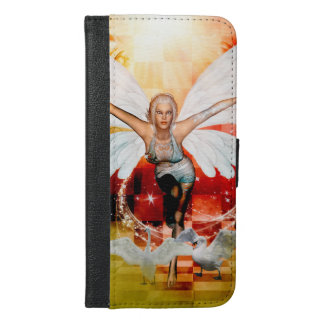 Wonderful fairy with swan iPhone 6/6s plus wallet case