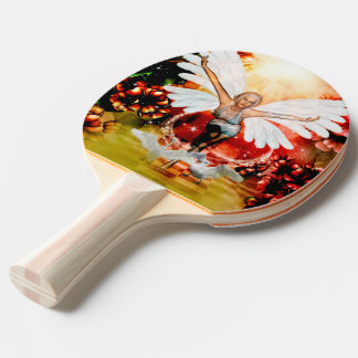 Wonderful fairy with swan Ping-Pong paddle