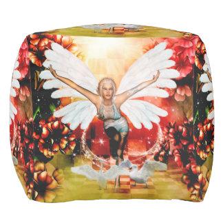 Wonderful fairy with swan pouf