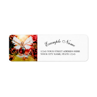 Wonderful fairy with swan return address label