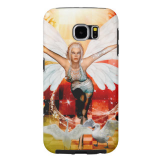 Wonderful fairy with swan samsung galaxy s6 cases