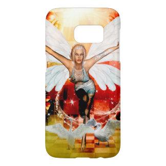Wonderful fairy with swan samsung galaxy s7 case