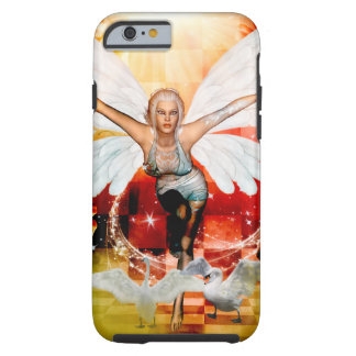 Wonderful fairy with swan tough iPhone 6 case