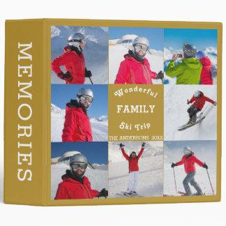 Wonderful Family Ski Trip Editable Photo Template 3 Ring Binder