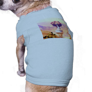 Wonderful fantasy landscape with rocks doggie shirt