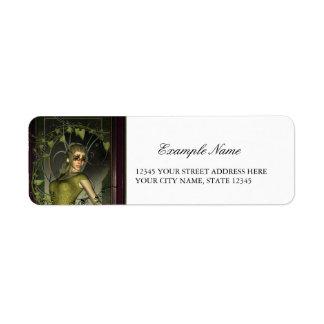 Wonderful fantasy women return address label