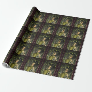 Wonderful fantasy women with leaves wrapping paper