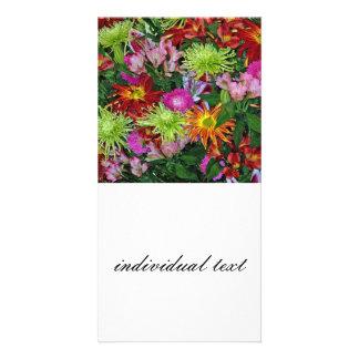 wonderful flowers personalized photo card