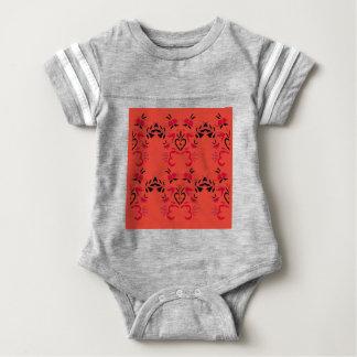 Wonderful Folk design Orange Baby Bodysuit