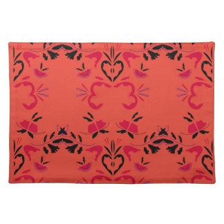 Wonderful Folk design Orange Placemat