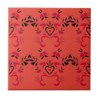 Wonderful Folk design Orange Tile