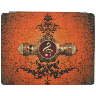 Wonderful golden clef on a awesome button iPad cover