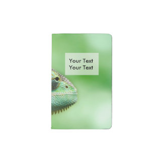 Wonderful Green Reptile Chameleon Pocket Moleskine Notebook