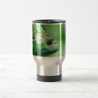 Wonderful Green Reptile Chameleon Travel Mug