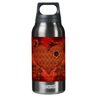 Wonderful heart insulated water bottle