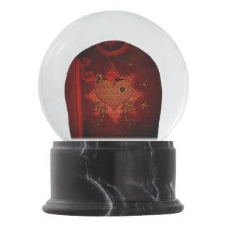 Wonderful heart snow globe