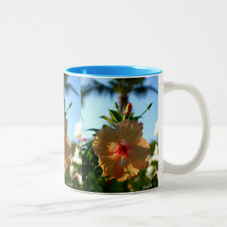 Wonderful Hibiscus Two-Tone Coffee Mug