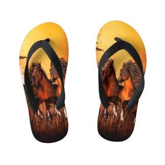 Wonderful horses kid's flip flops