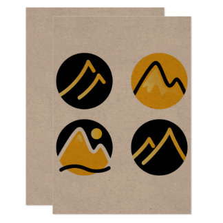 Wonderful icons : gold and black on recycle paper card