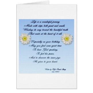 Wonderful Journey Birthday Poem Card