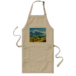 Wonderful lake landscape in Switzerland Long Apron