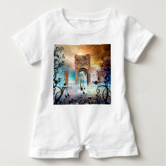 Wonderful lamp boat drives by a gate baby romper