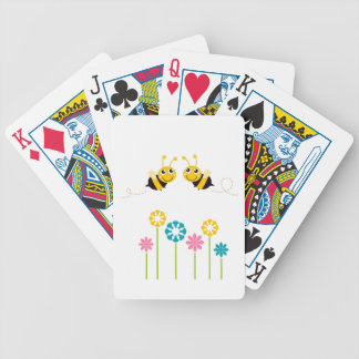 Wonderful little cute Bees yellow Bicycle Playing Cards