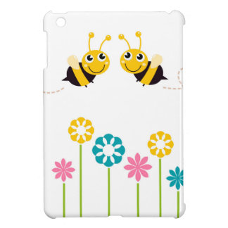 Wonderful little cute Bees yellow Case For The iPad Mini
