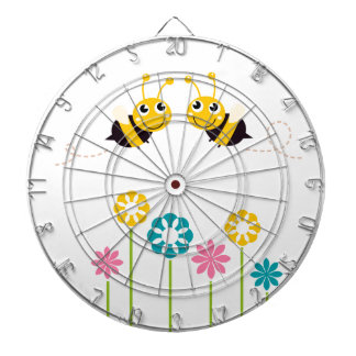 Wonderful little cute Bees yellow Dartboard