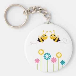 Wonderful little cute Bees yellow Keychain