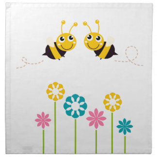 Wonderful little cute Bees yellow Napkin