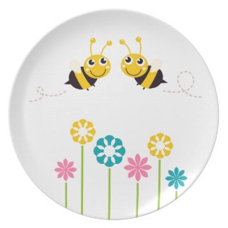 Wonderful little cute Bees yellow Plate
