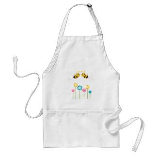 Wonderful little cute Bees yellow Standard Apron