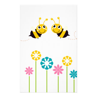 Wonderful little cute Bees yellow Stationery