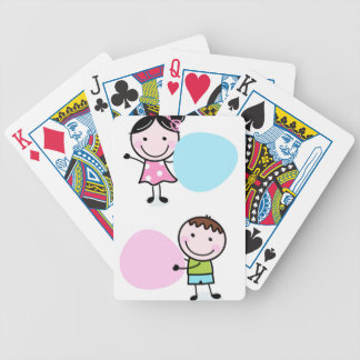 Wonderful little kids / creative t-shirts bicycle playing cards
