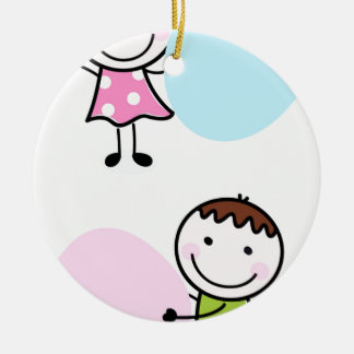 Wonderful little kids / creative t-shirts ceramic ornament