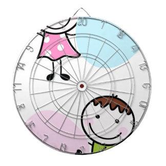 Wonderful little kids / creative t-shirts dartboard