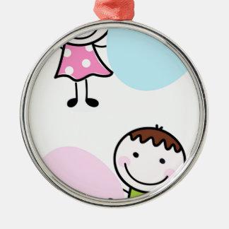 Wonderful little kids / creative t-shirts metal ornament