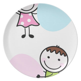 Wonderful little kids / creative t-shirts plate