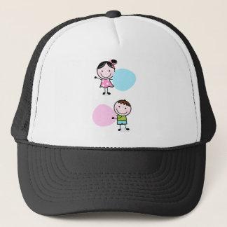 Wonderful little kids / creative t-shirts trucker hat