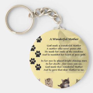 Wonderful Mother - Cats Keychain