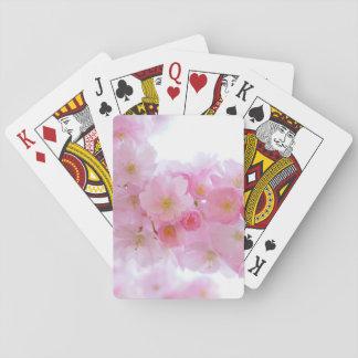 Wonderful Pink Japanese Cherry Blossom Poker Deck