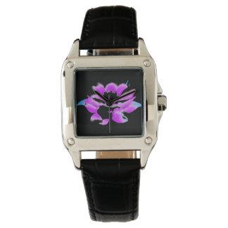 wonderful pink lotus wrist watch