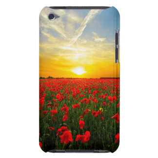 Wonderful Poppy Field Sunset Horizon Barely There iPod Cases